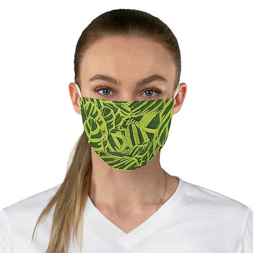 Tropical Leaf Print Face Mask