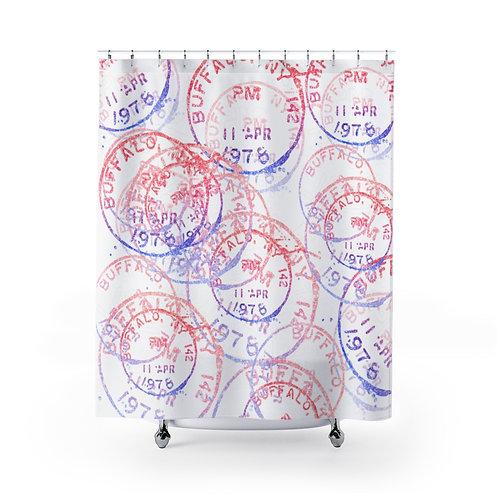 Buffalo Postage(shimmer) Shower Curtain