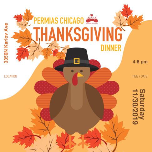 Permias Chicago Thanksgiving Dinner 2019