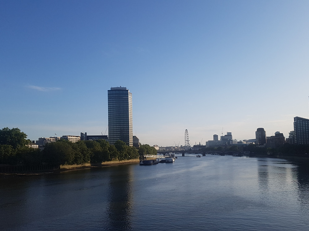 The view from Vauxhall Bridge (half marathon training)