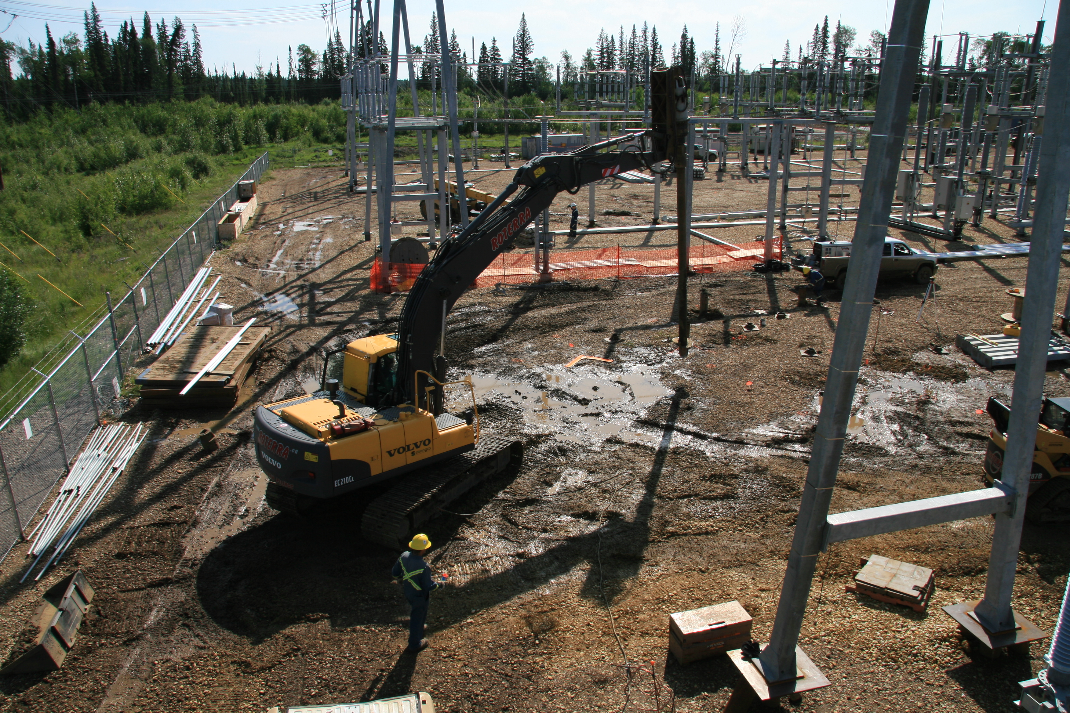Screw Pile Substation Addition