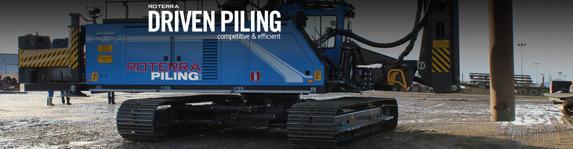 Driven Piling   Roterra Piling   Piling Solutions   Canada