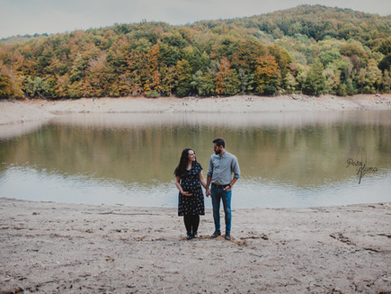 Embarazo Cristina y Edu en el Montseny