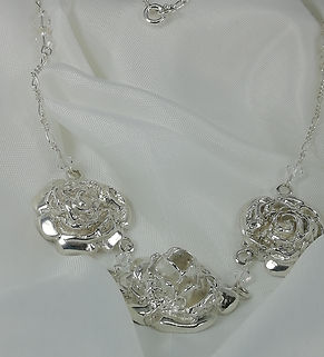 handmade stireling silver bridal necklace