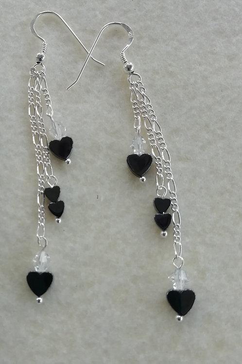 Hematite Hearts  Earrings