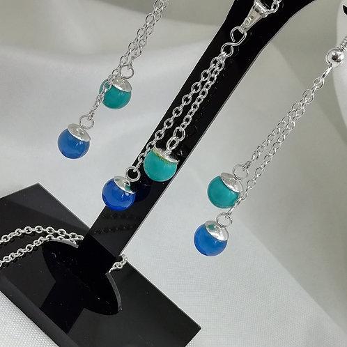 Turquoise and Blue Onyx Pendant