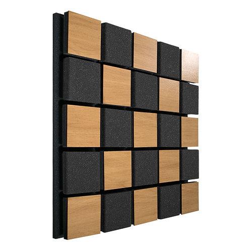 Акустическая панель Ecosound Tetras Acoustic Wood Cream 50x50см 73мм светлый дуб