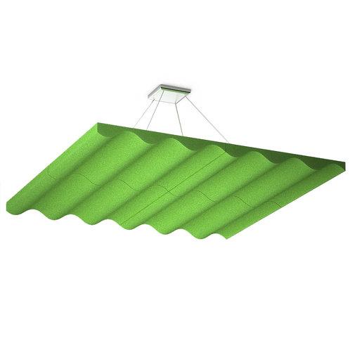 Акустическая подвесная звукопоглощающая панель Quadro Wave Green