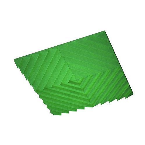 Акустическая подвесная звукопоглощающая панель Quadro Acoustic Wave Green