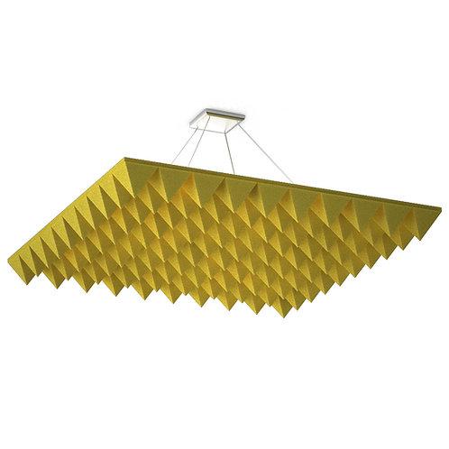 Акустическая подвесная звукопоглощающая панель Quadro Pyramid Yellow