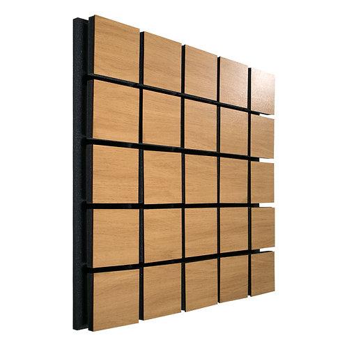 Акустическая панель Ecosound Tetras Wood Cream 50x50см 33мм цвет светлый дуб