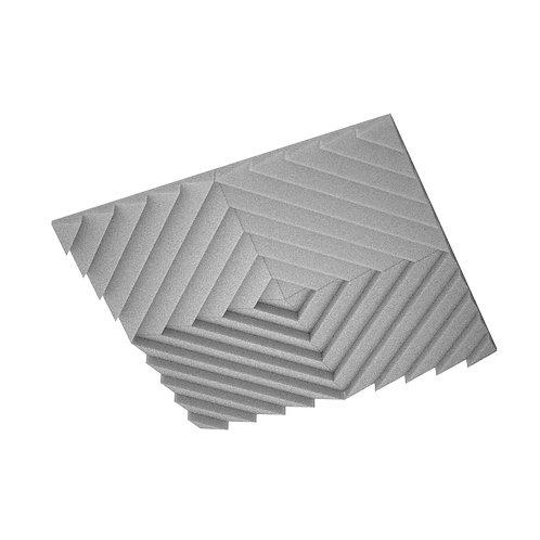 Акустическая подвесная звукопоглощающая панель Quadro Acoustic Wave Grey