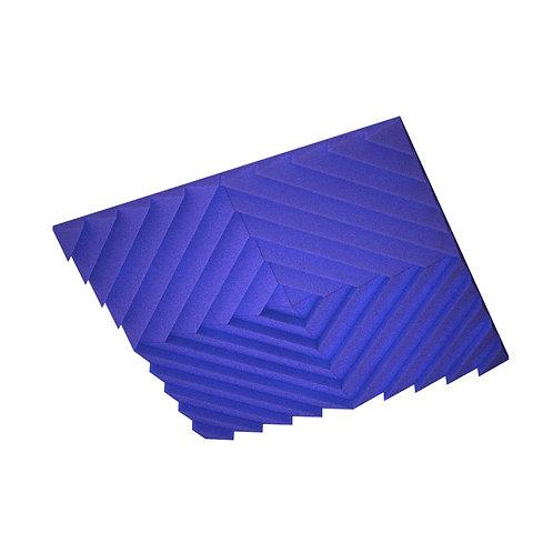 Акустическая подвесная звукопоглощающая панель Quadro Acoustic Wave Blue