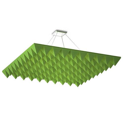 Акустическая подвесная звукопоглощающая панель Quadro Pyramid Green