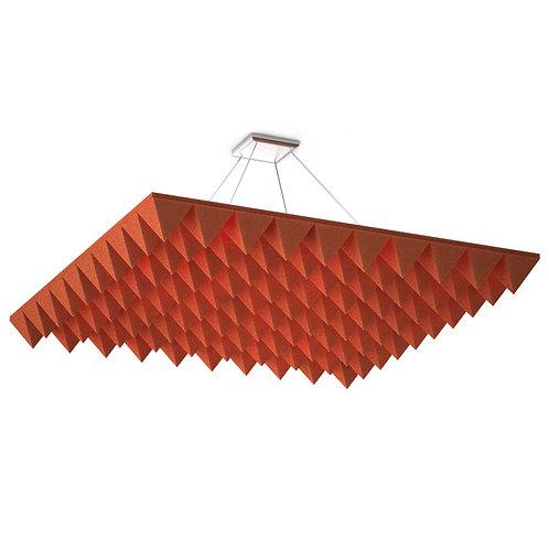 Акустическая подвесная звукопоглощающая панель Quadro Pyramid Red