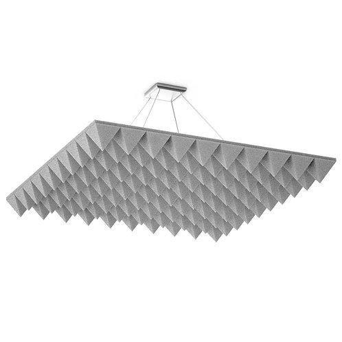Акустическая подвесная звукопоглощающая панель Quadro Pyramid White
