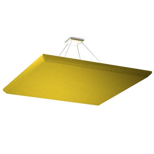 Акустическая подвесная звукопоглощающая панель Quadro Yellow.