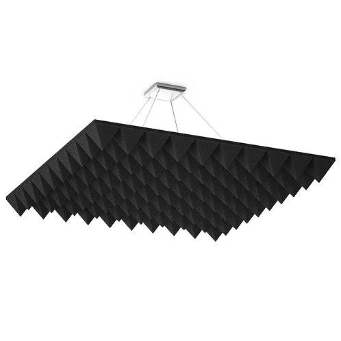 Акустическая подвесная звукопоглощающая панель Quadro Pyramid Black
