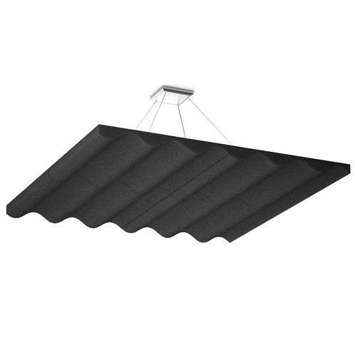 Акустическая подвесная звукопоглощающая панель Quadro Wave Black