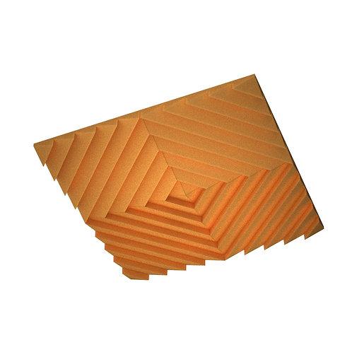 Акустическая подвесная звукопоглощающая панель Quadro Acoustic Wave Orange