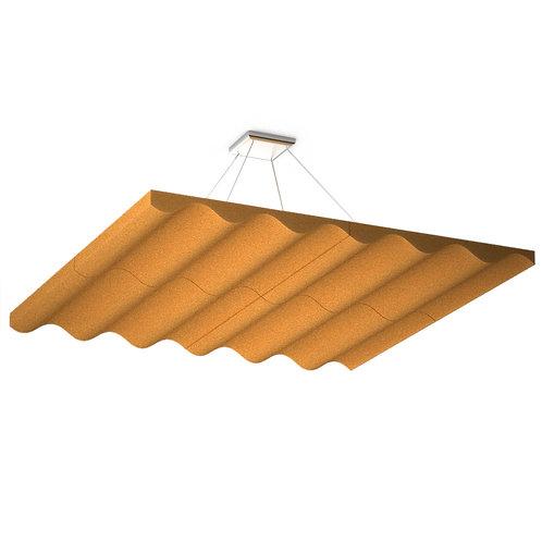 Акустическая подвесная  звукопоглощающая панель Quadro Wave Orange