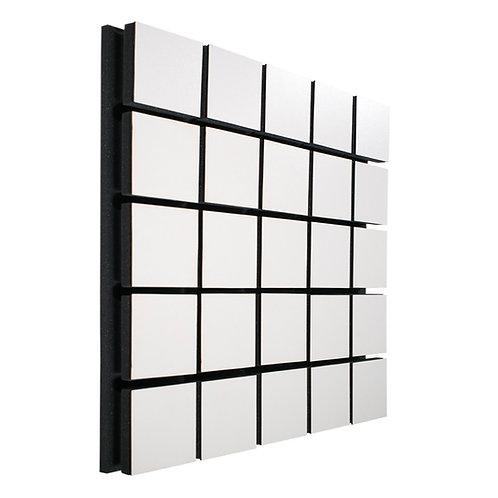 Акустическая панель Ecosound Tetras Wood White 50x50см 73мм цвет белый