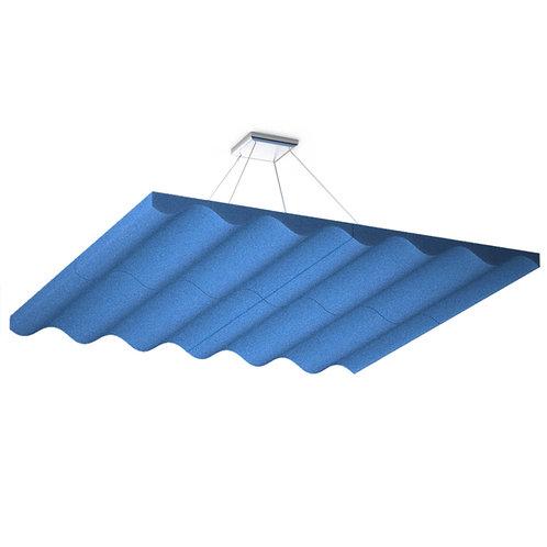 Акустическая подвесная  звукопоглощающая панель Quadro Wave Blue
