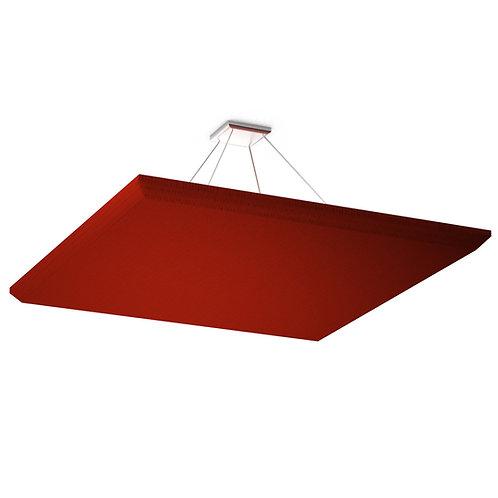 Акустическая подвесная звукопоглощающая панель Quadro Red.
