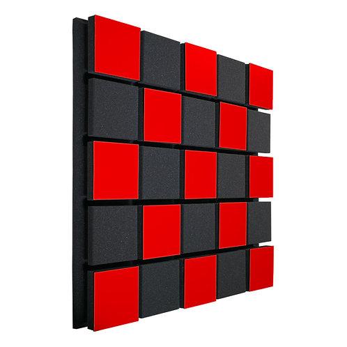 Акустическая панель Ecosound Tetras Acoustic Wood Red 50x50см 33мм Цвет красный