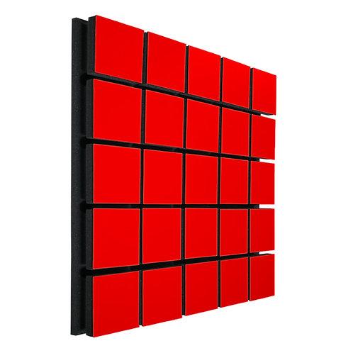 Акустическая панель Ecosound Tetras Wood Red 50x50см 33мм цвет красный