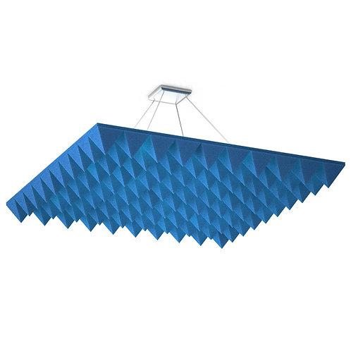 Акустическая подвесная звукопоглощающая панель Quadro Pyramid Blue
