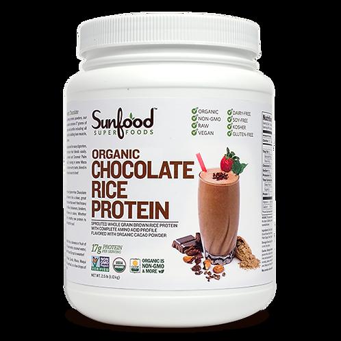 Rice Protein, Chocolate, 2.5lb Tub, Organic