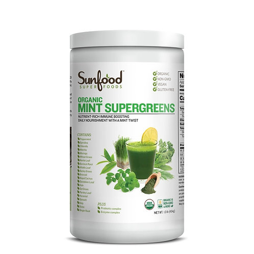 Mint Supergreens, 1lb Tub, Organic