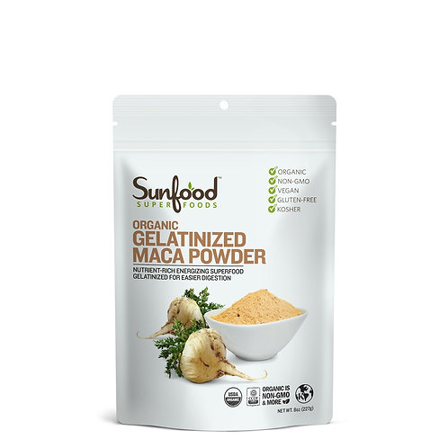 Gelatinized Maca Powder, 8oz, Organic