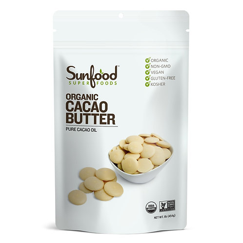 Cacao Butter, 1lb, Organic, Raw