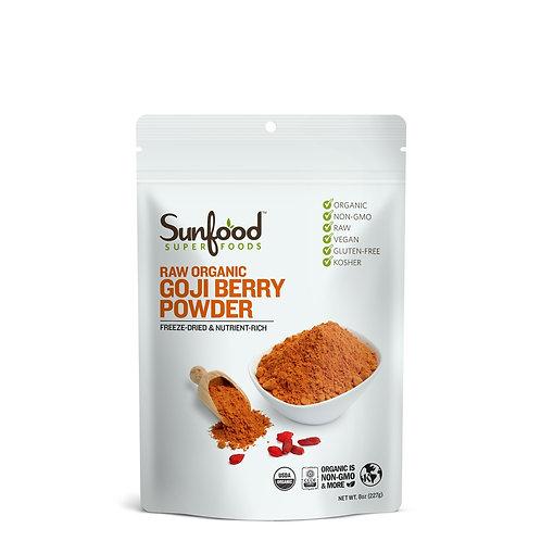 Goji Berry Powder, 8oz, Organic, Raw