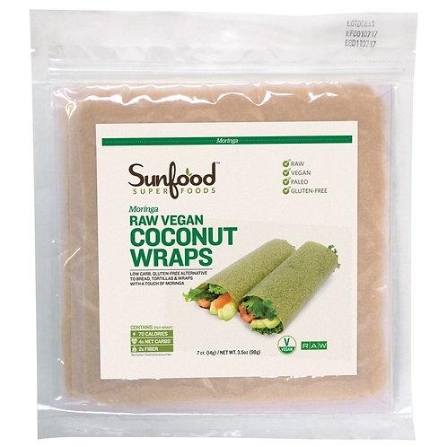 Coconut Wraps - Moringa - Raw, Vegan, Paleo, 7ct