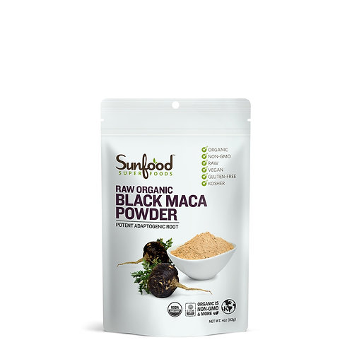 Black Maca Powder, 4oz, Raw, Organic
