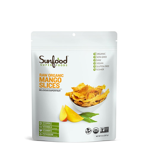 Mango Slices, 8oz, Organic, Raw