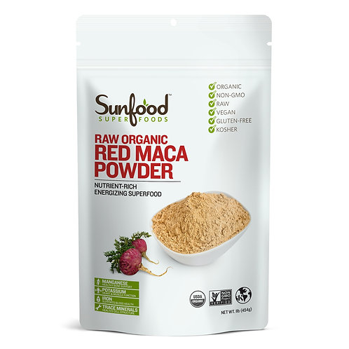 Red Maca Powder, 1lb, Organic, Raw