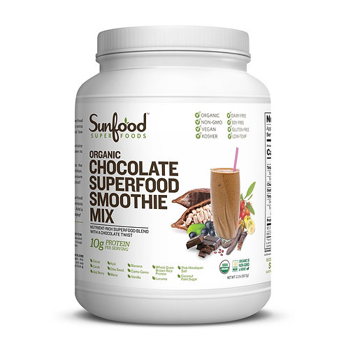 Chocolate Superfood Smoothie Mix, 2.2lb Tub, Organic