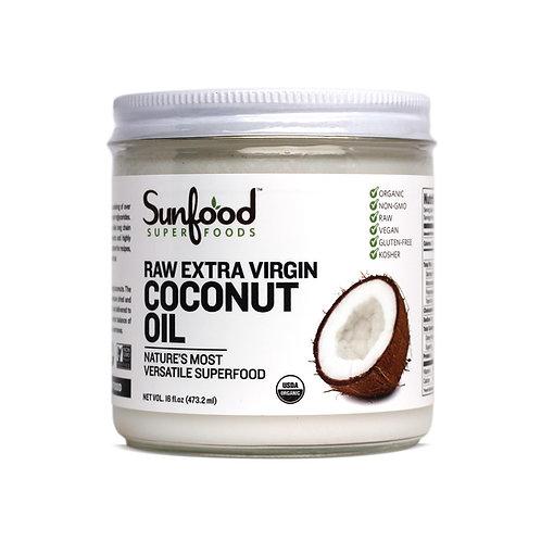 Coconut Oil, Extra Virgin, 16floz, Organic, Raw