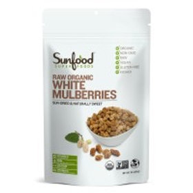 Mulberries, White, 1lb, Organic, Raw