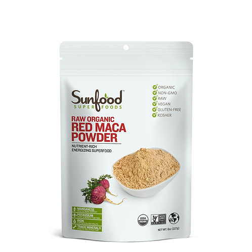 Red Maca Powder, 8oz, Organic, Raw