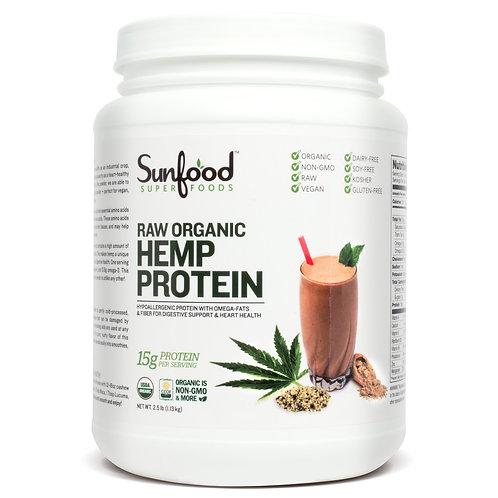 Hemp Protein, 2.5lb Tub, Raw, Organic