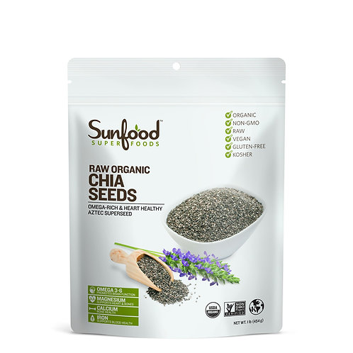 Chia Seeds, 1lb, Organic, Raw