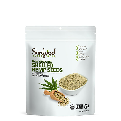 Hemp Seeds, Shelled, 1lb, Organic, Raw