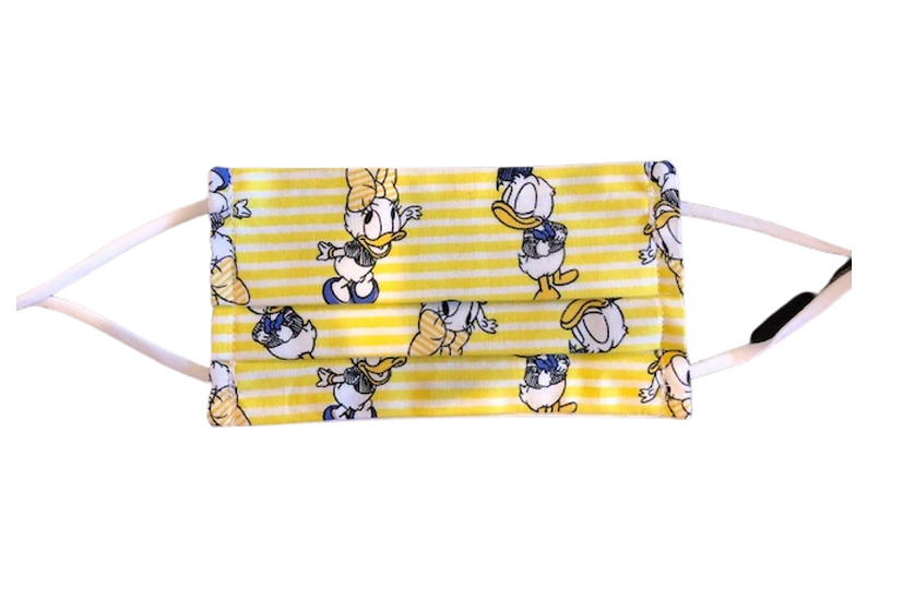 Pleated Face Mask - Donald and Daisy Duck