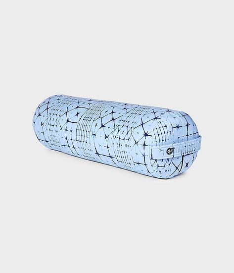 enlight™ round bolster - star dye clear blue