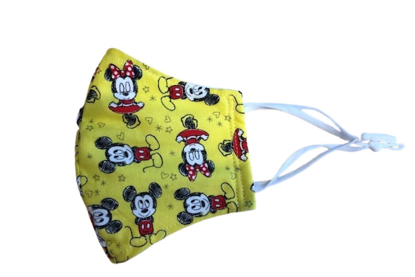 Contour Face Mask - Yellow Mickey & Minnie